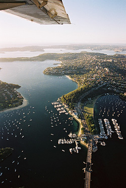 aerial view of Mosman - image courtesy gm photographics