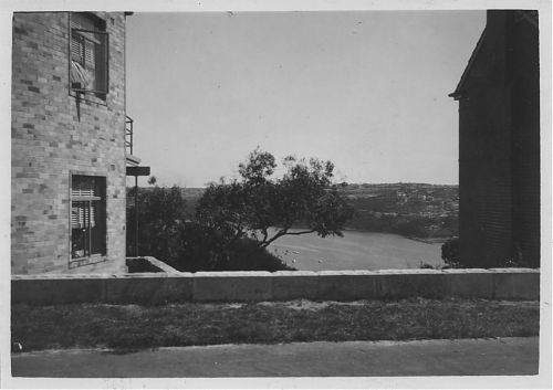 View to west over front wall of 4 Ryrie Street to Quakers Hat Bay and Northbridge beyond.